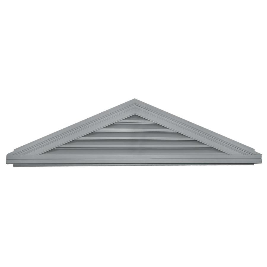 Builders Edge 70.5-in x 16.9-in Paintable Triangle Vinyl Gable Vent