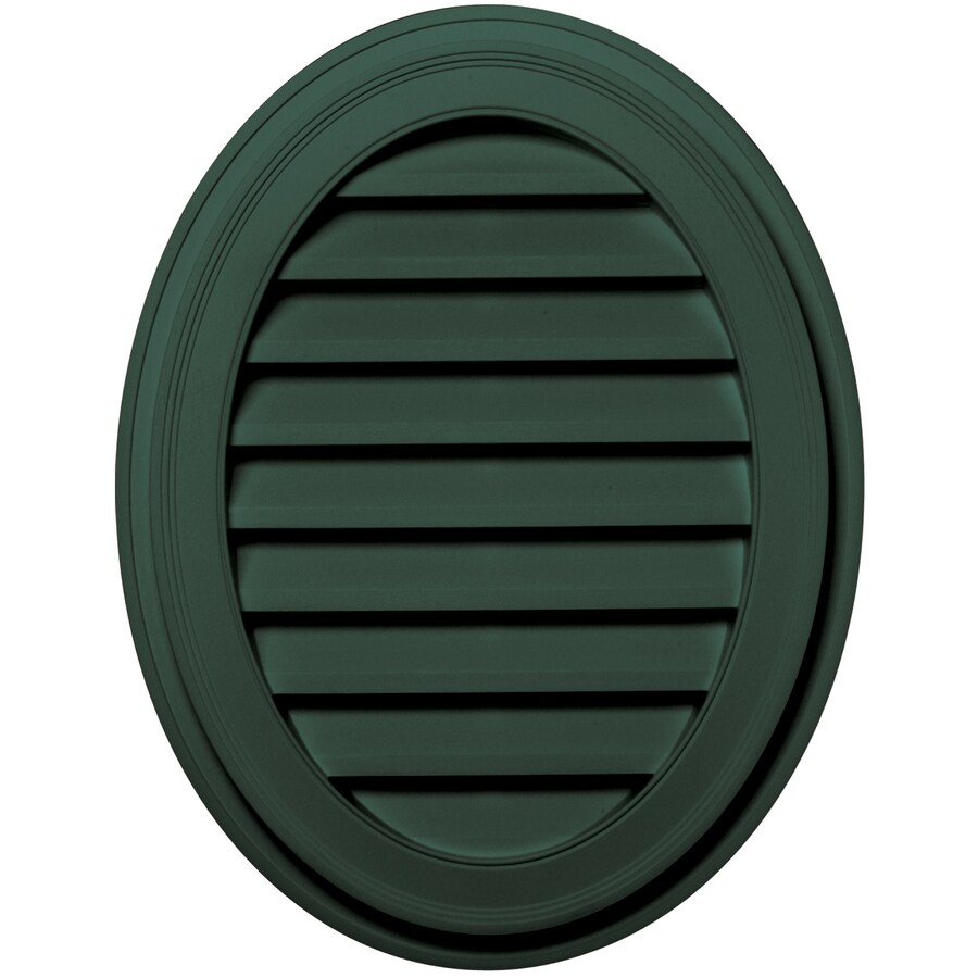 Builders Edge 8-in x 8-in Forest Green Oval Vinyl Gable Vent