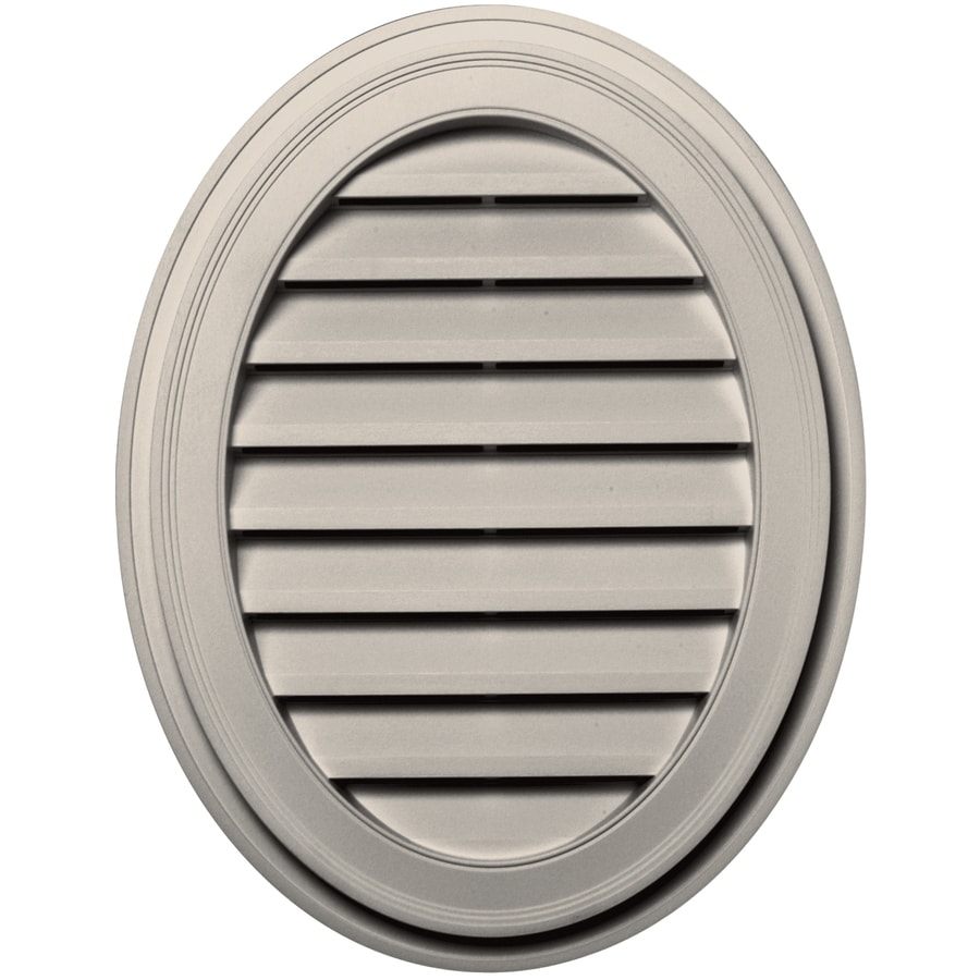 Builders Edge 8-in x 8-in Almond Oval Vinyl Gable Vent
