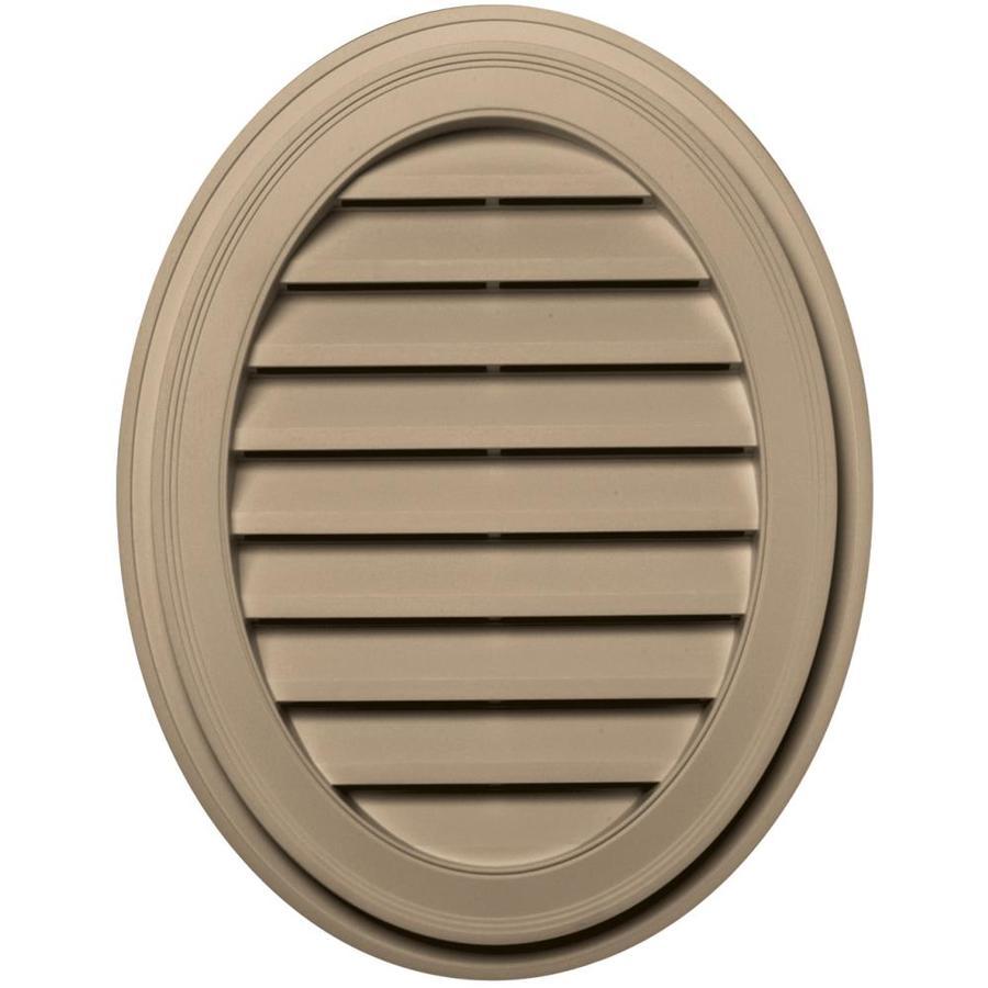 Builders Edge 8-in x 8-in Tan Oval Vinyl Gable Vent