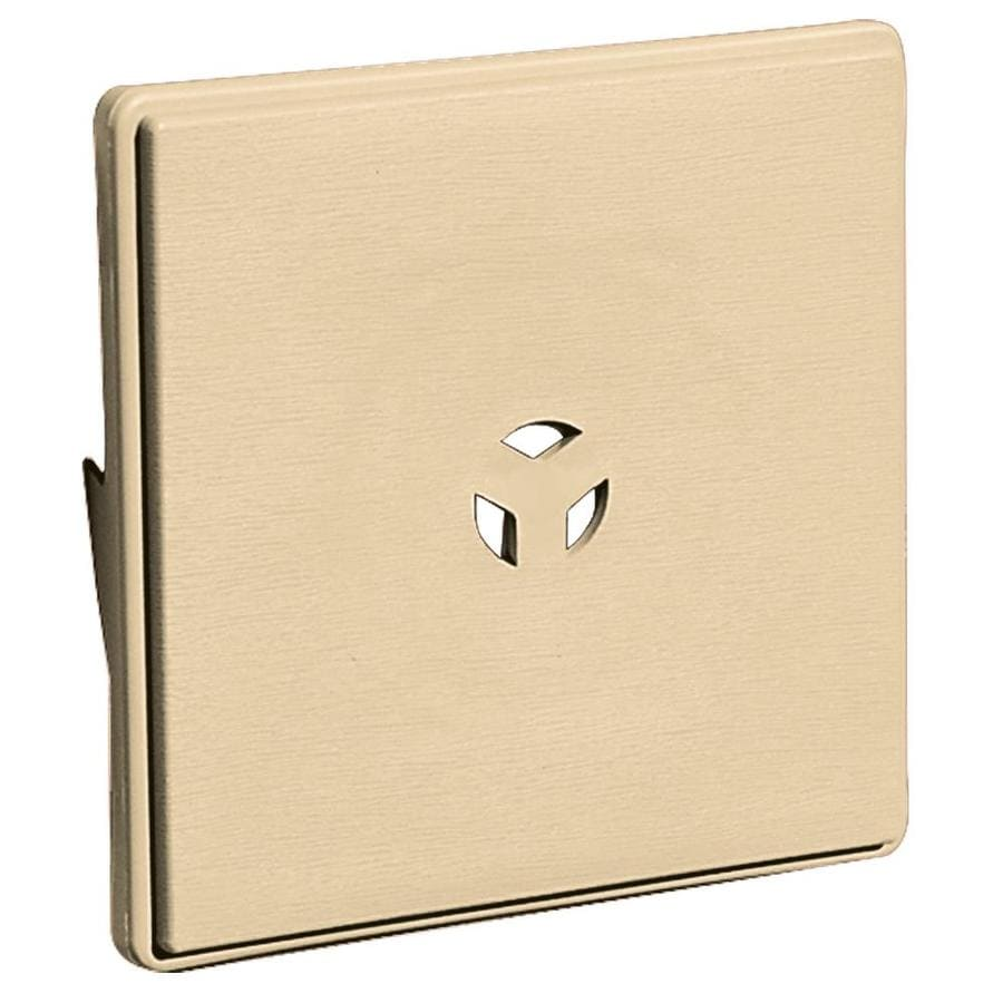 Builders Edge 6.625-in x 6.625-in Dark Almond Vinyl Universal Mounting Block
