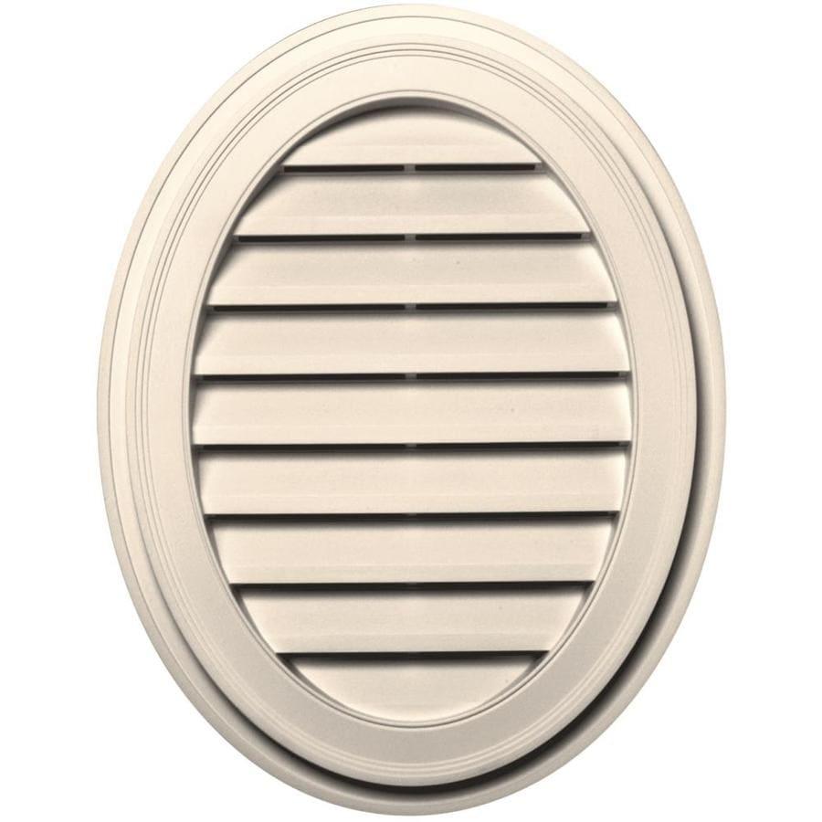 Builders Edge 8-in x 8-in Sandstone Beige Oval Vinyl Gable Vent