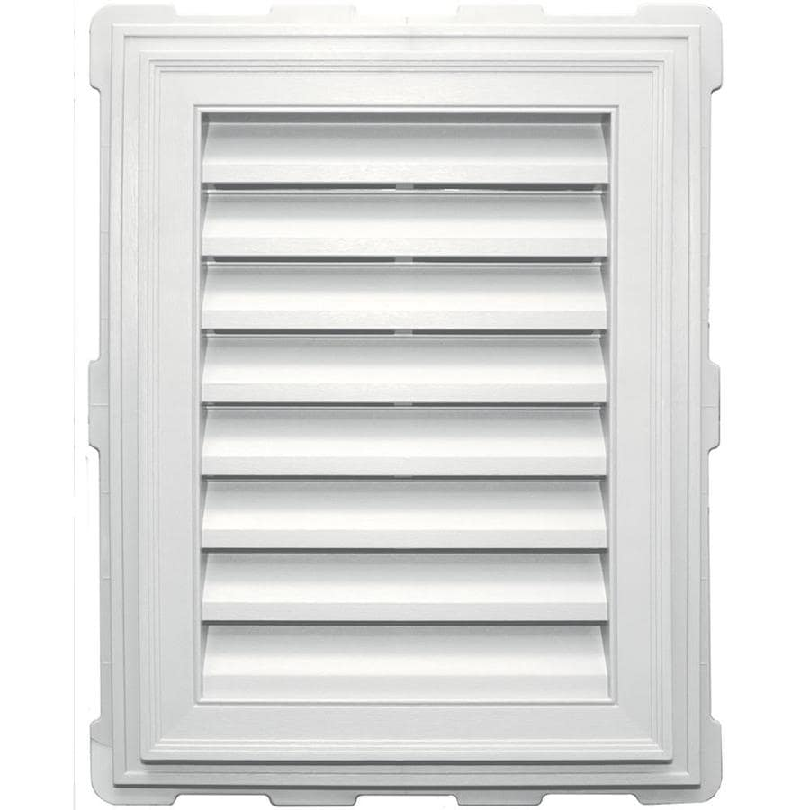 Builders Edge 8-in x 8-in White Rectangle Vinyl Gable Vent