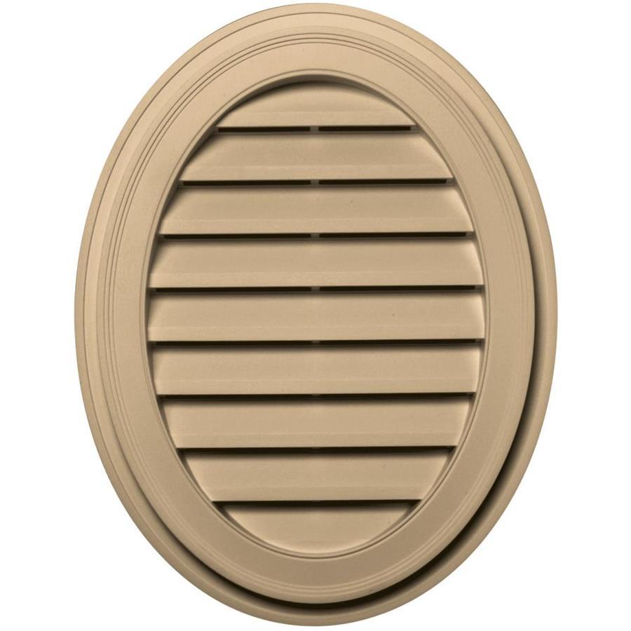 Builders Edge 8-in x 8-in Sandstone Maple Oval Vinyl Gable Vent