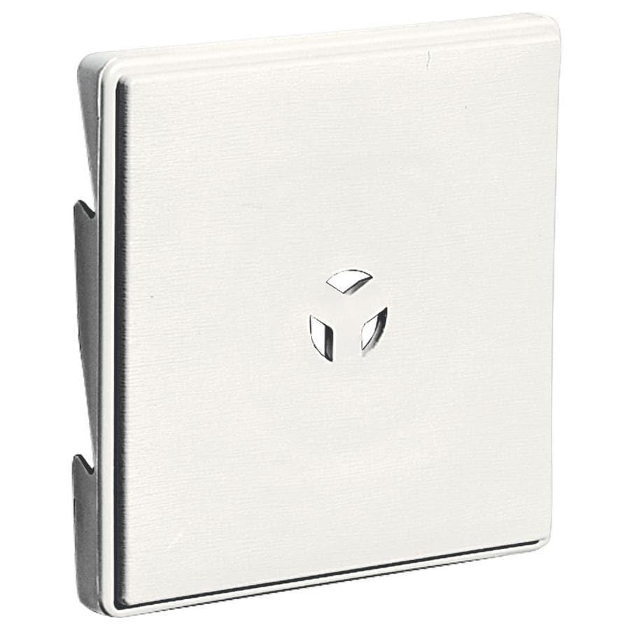 Builders Edge 6.625-in x 6.625-in White Vinyl Universal Mounting Block