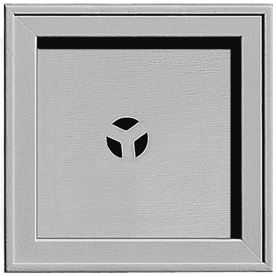 Builders Edge 7.75-in x 7.75-in Gray Vinyl Universal Mounting Block