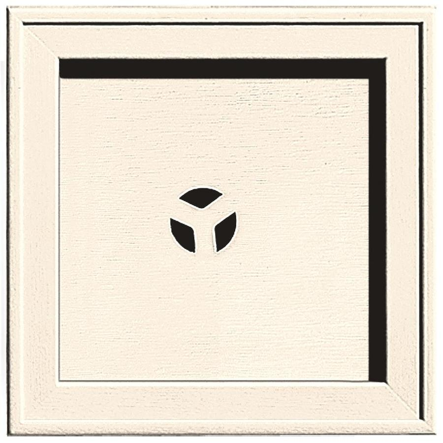 Builders Edge 7.75-in x 7.75-in Sandstone Beige Vinyl Universal Mounting Block