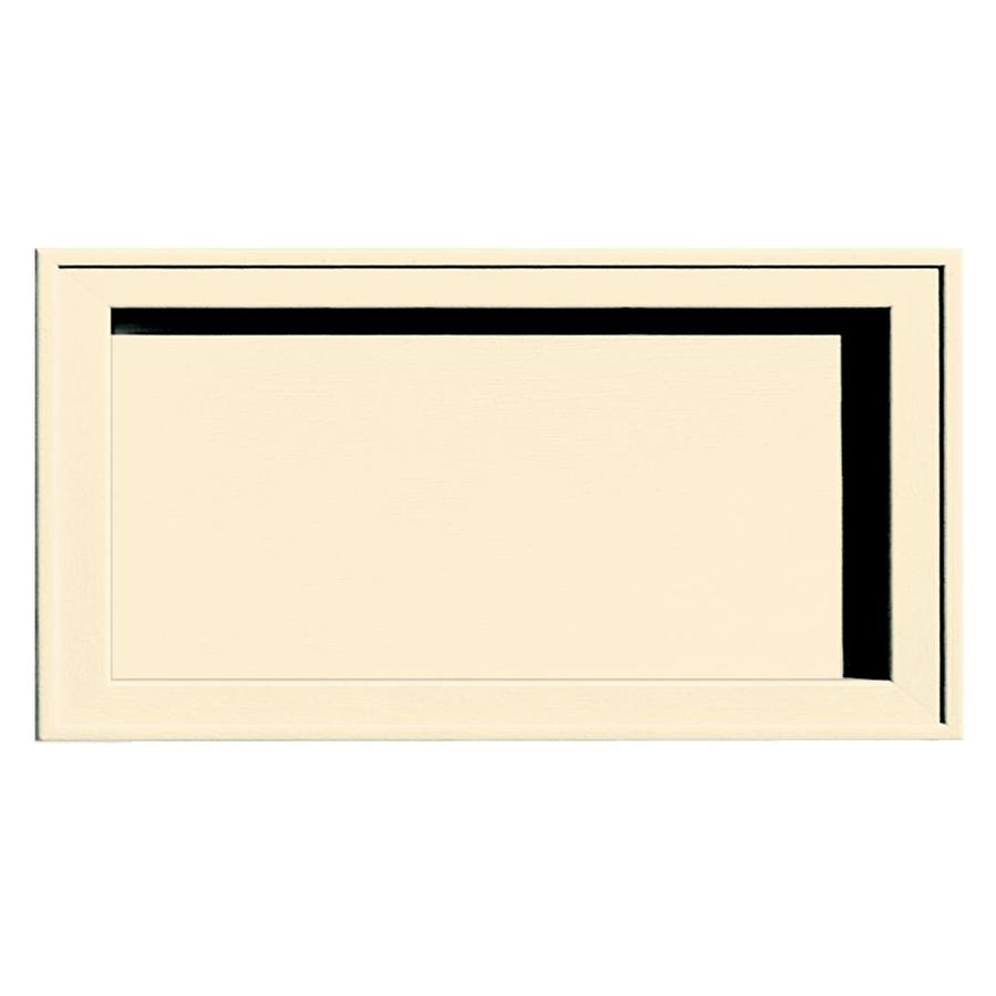 Builders Edge 7.5-in x 14.25-in Heritage Cream Vinyl Universal Mounting Block
