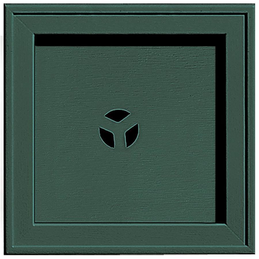 Builders Edge 7.75-in x 7.75-in Forest Green Vinyl Universal Mounting Block