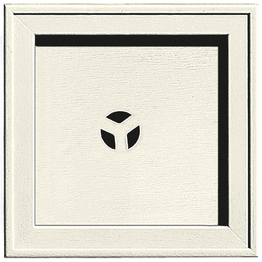 Builders Edge 7.75-in x 7.75-in Parchment Vinyl Universal Mounting Block