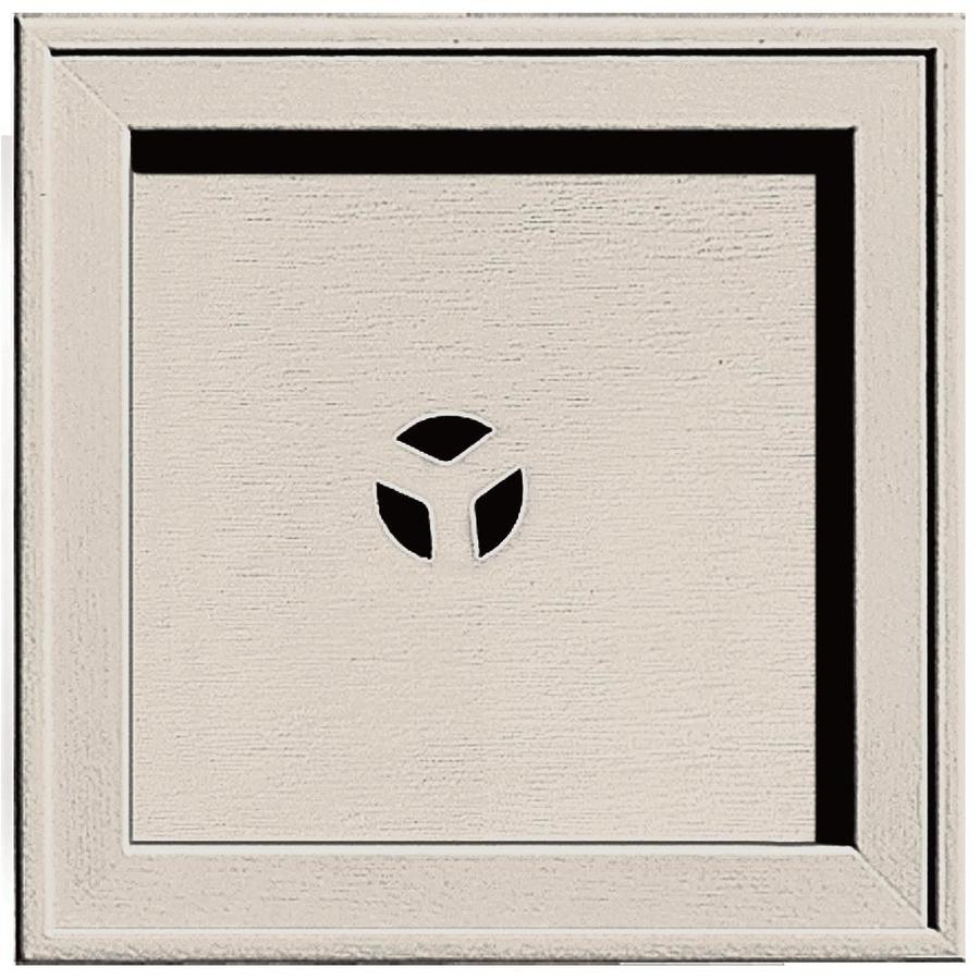 Builders Edge 7.75-in x 7.75-in Almond Vinyl Universal Mounting Block