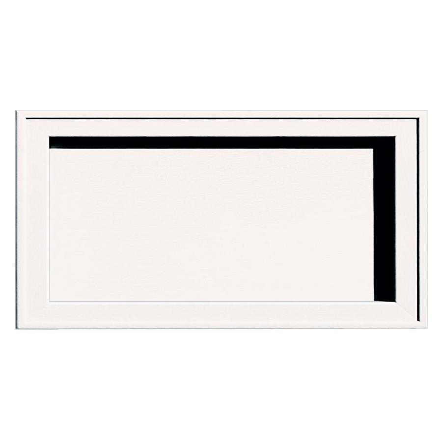 Builders Edge 7.5-in x 14.25-in Bright White Vinyl Universal Mounting Block