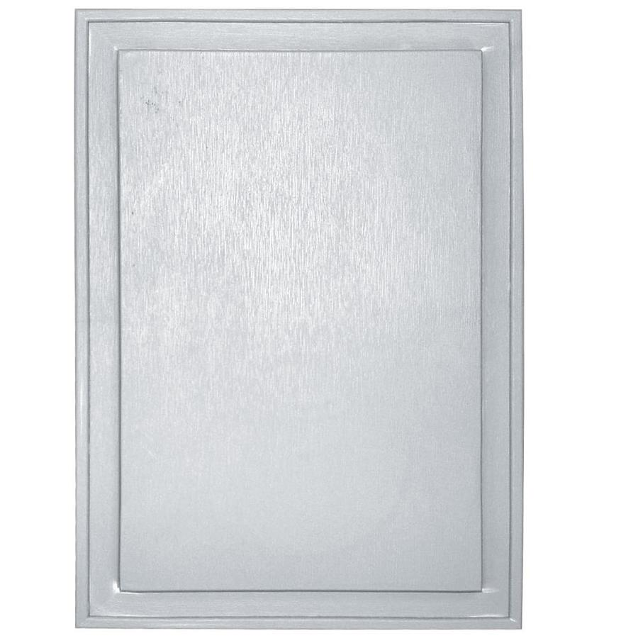 Builders Edge 10-in x 14-in White Vinyl Universal Mounting Block