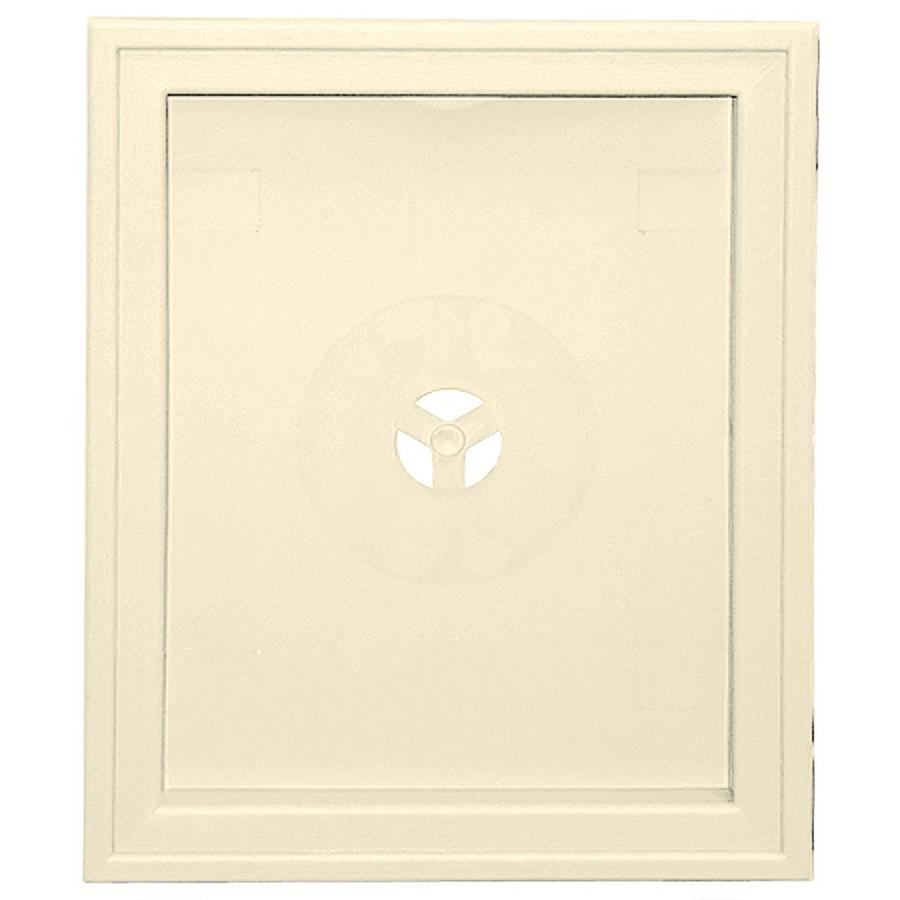Builders Edge 6.75-in x 8.75-in Heritage Cream Vinyl Universal Mounting Block