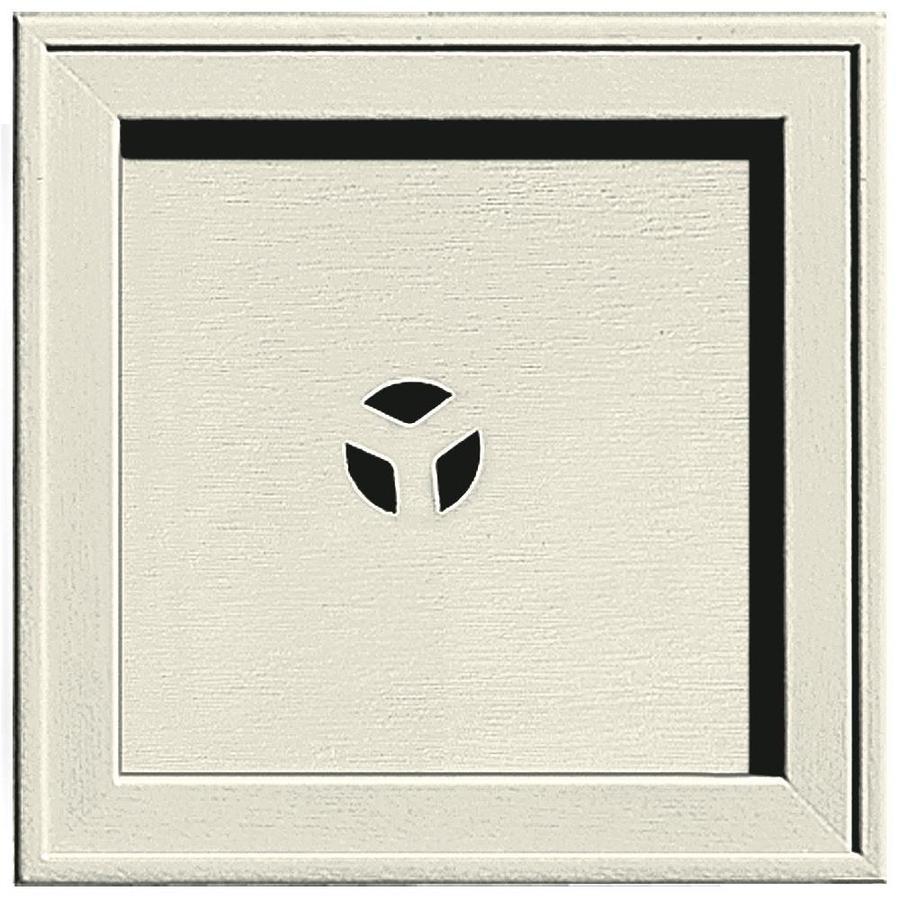 Builders Edge 7.75-in x 7.75-in Linen Vinyl Universal Mounting Block