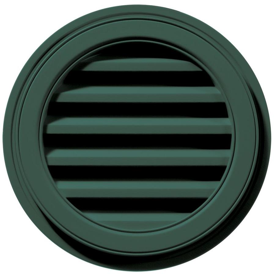 Builders Edge 6-in x 5-in Forest Green Round Vinyl Gable Vent
