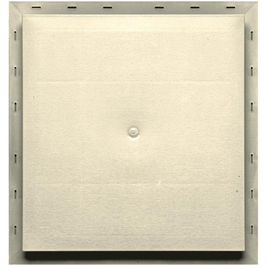Builders Edge 15.5-in x 16.5-in Heritage Cream Vinyl Universal Mounting Block