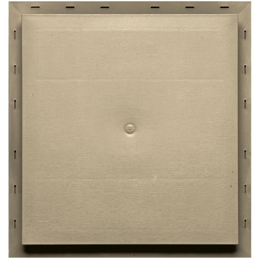Builders Edge 15.5-in x 16.5-in Light Almond Vinyl Universal Mounting Block