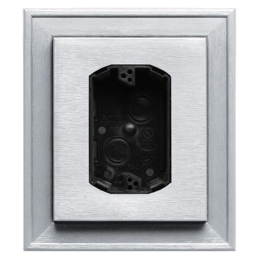 Builders Edge 7-in x 8-in White Vinyl Electrical Mounting Block
