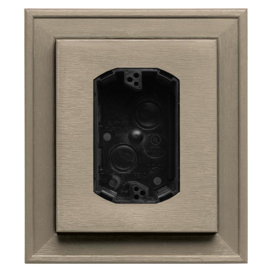 Builders Edge 7-in x 8-in Clay Vinyl Electrical Mounting Block