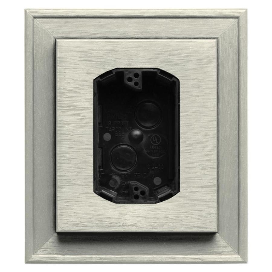 Builders Edge 7-in x 8-in Linen Vinyl Electrical Mounting Block