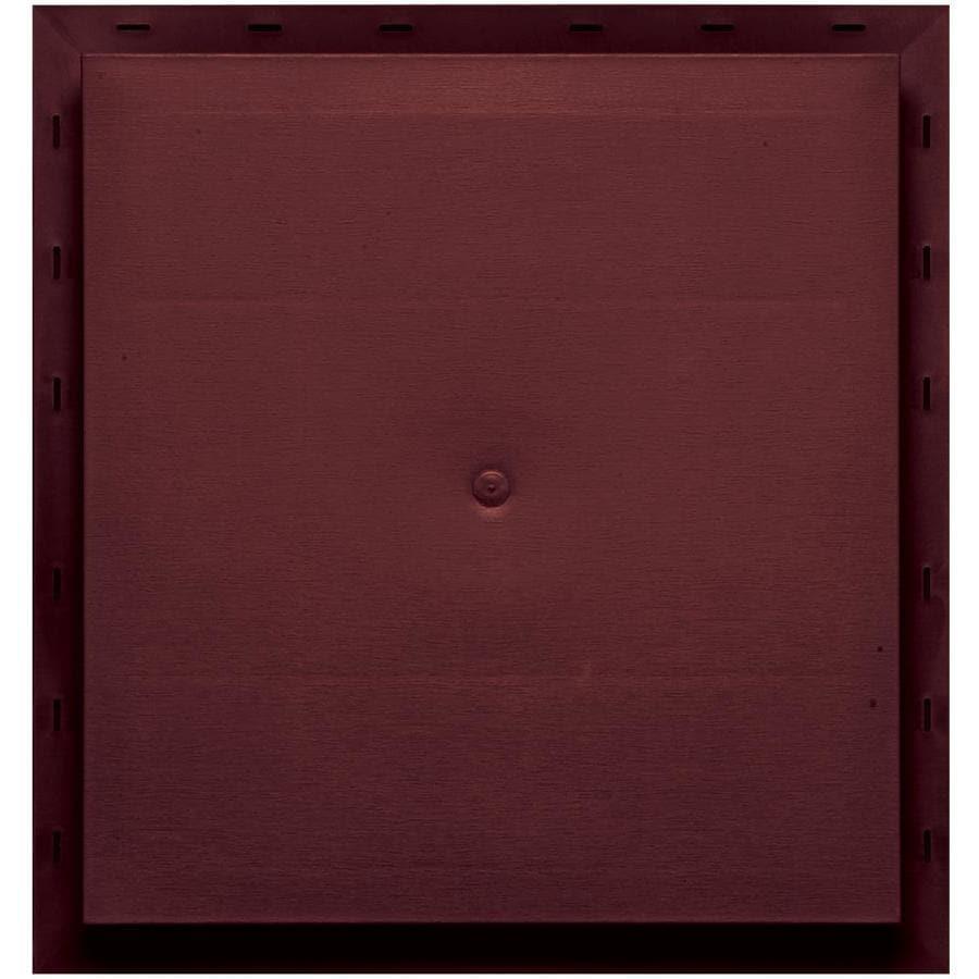Builders Edge 15.5-in x 16.5-in Wineberry Vinyl Universal Mounting Block