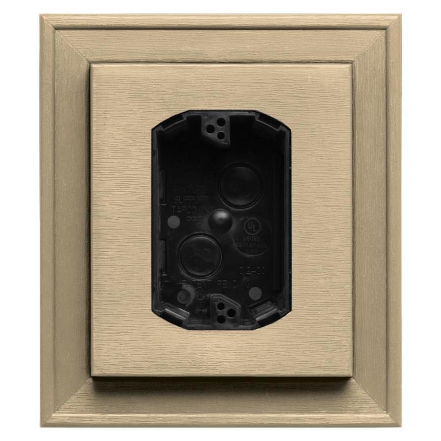 Builders Edge 7-in x 8-in Dark Almond Vinyl Electrical Mounting Block