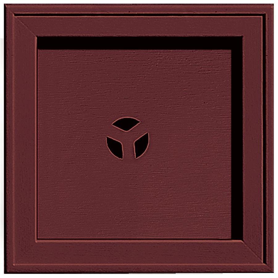 Builders Edge 7.75-in x 7.75-in Wineberry Vinyl Universal Mounting Block