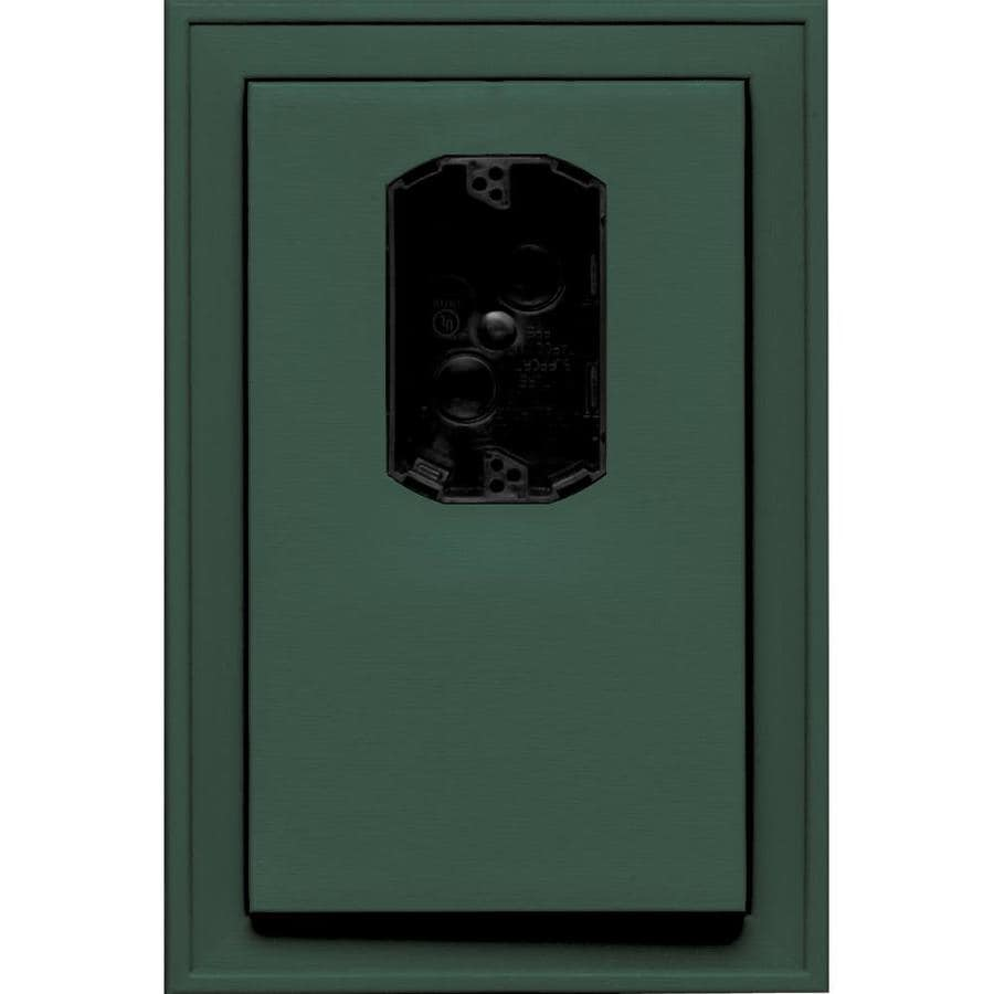 Builders Edge 8.125-in x 12-in Forest Green Vinyl Electrical Mounting Block