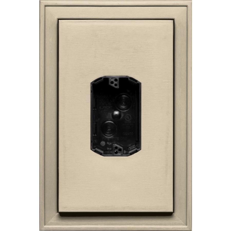 Builders Edge 8.125-in x 12-in Almond Vinyl Electrical Mounting Block