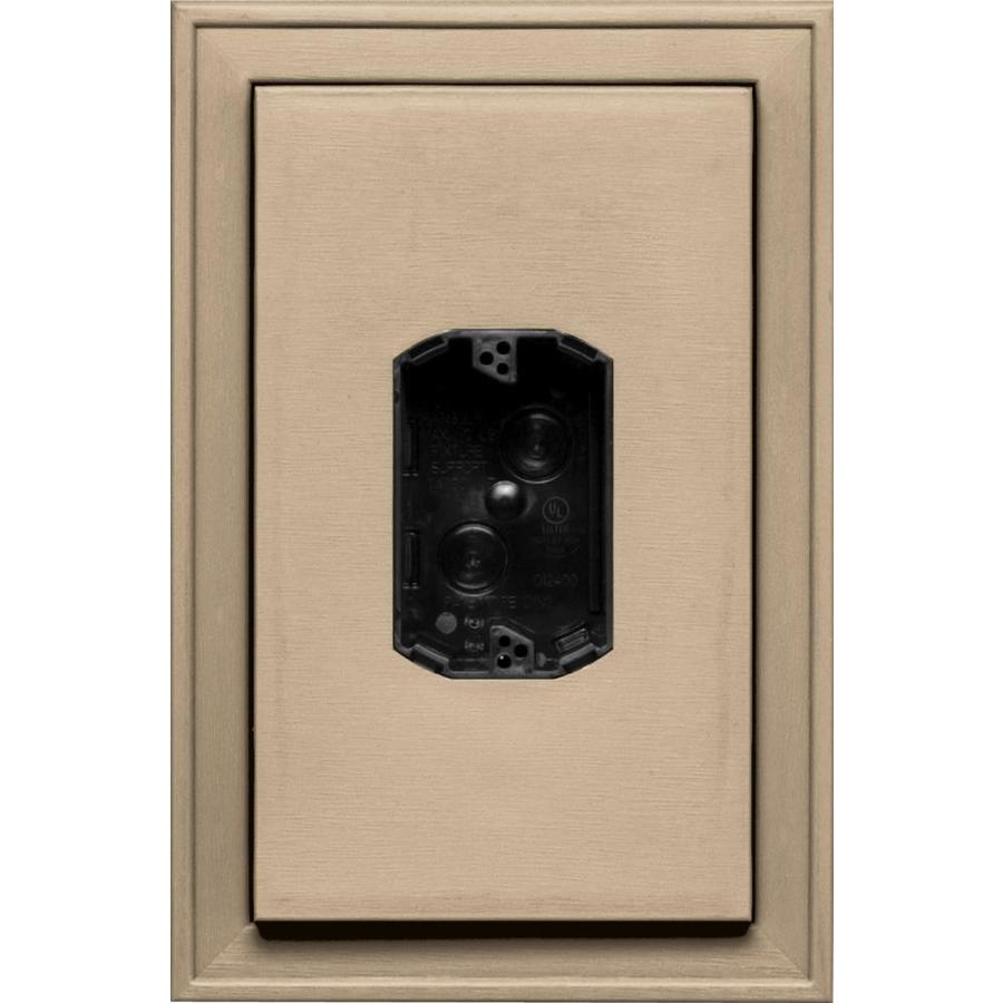 Builders Edge 8.125-in x 12-in Tan Vinyl Electrical Mounting Block
