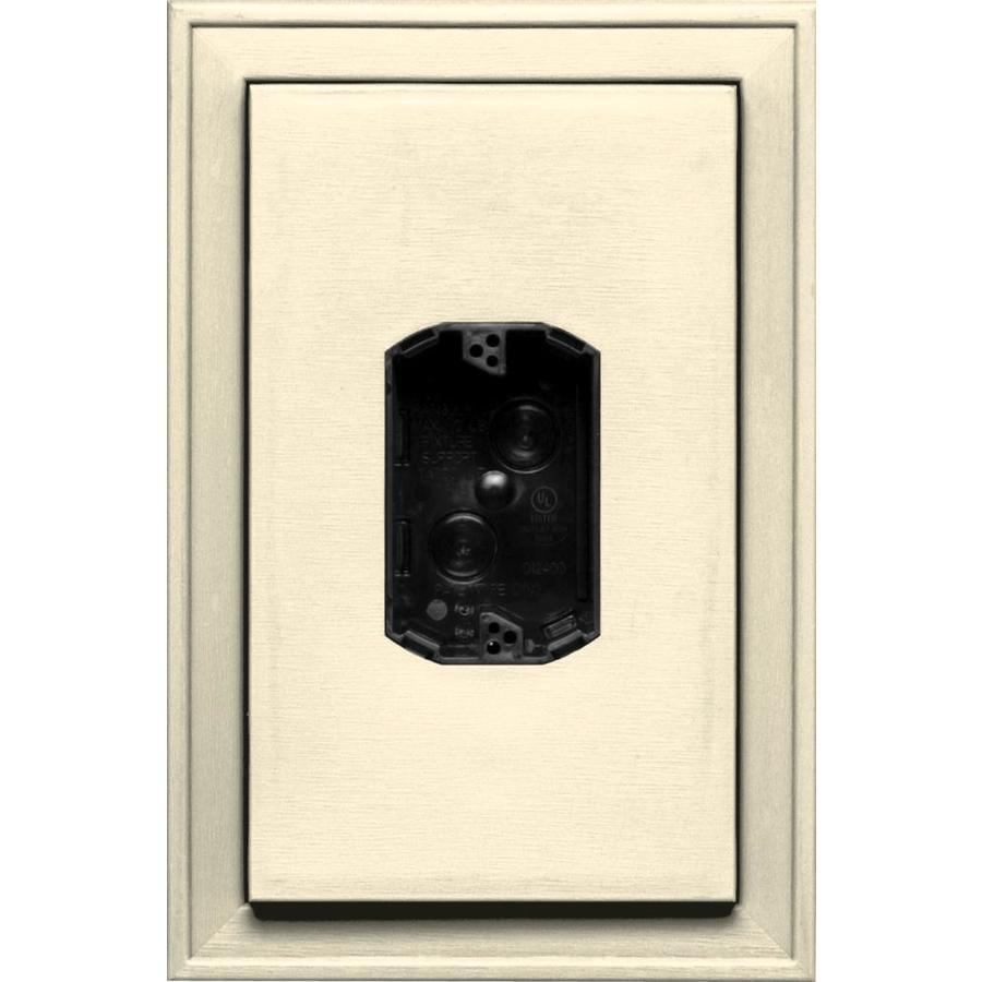 Builders Edge 8.125-in x 12-in Heritage Cream Vinyl Electrical Mounting Block