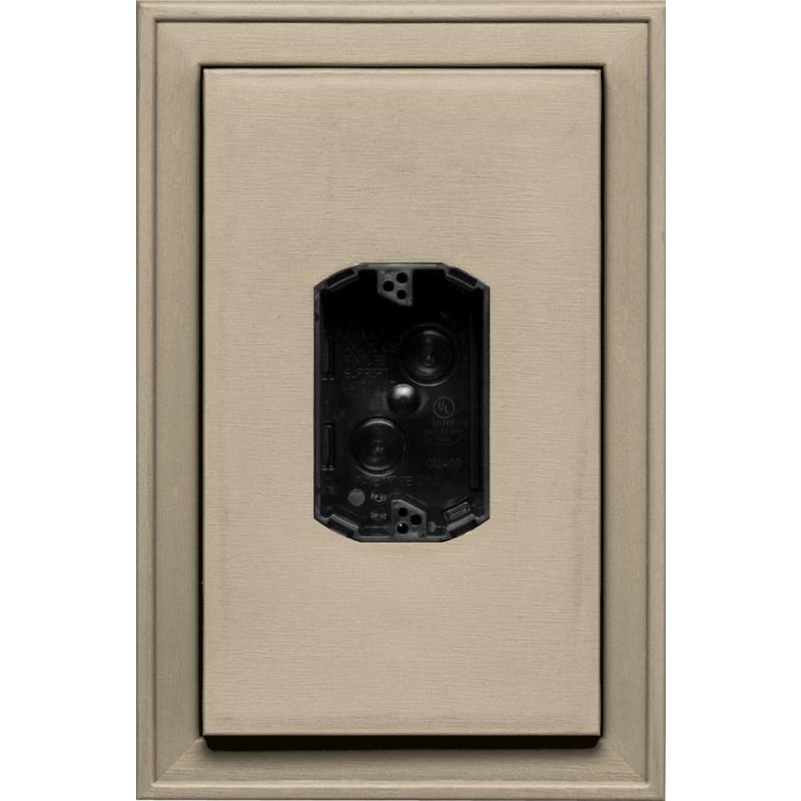 Builders Edge 8.125-in x 12-in Clay Vinyl Electrical Mounting Block