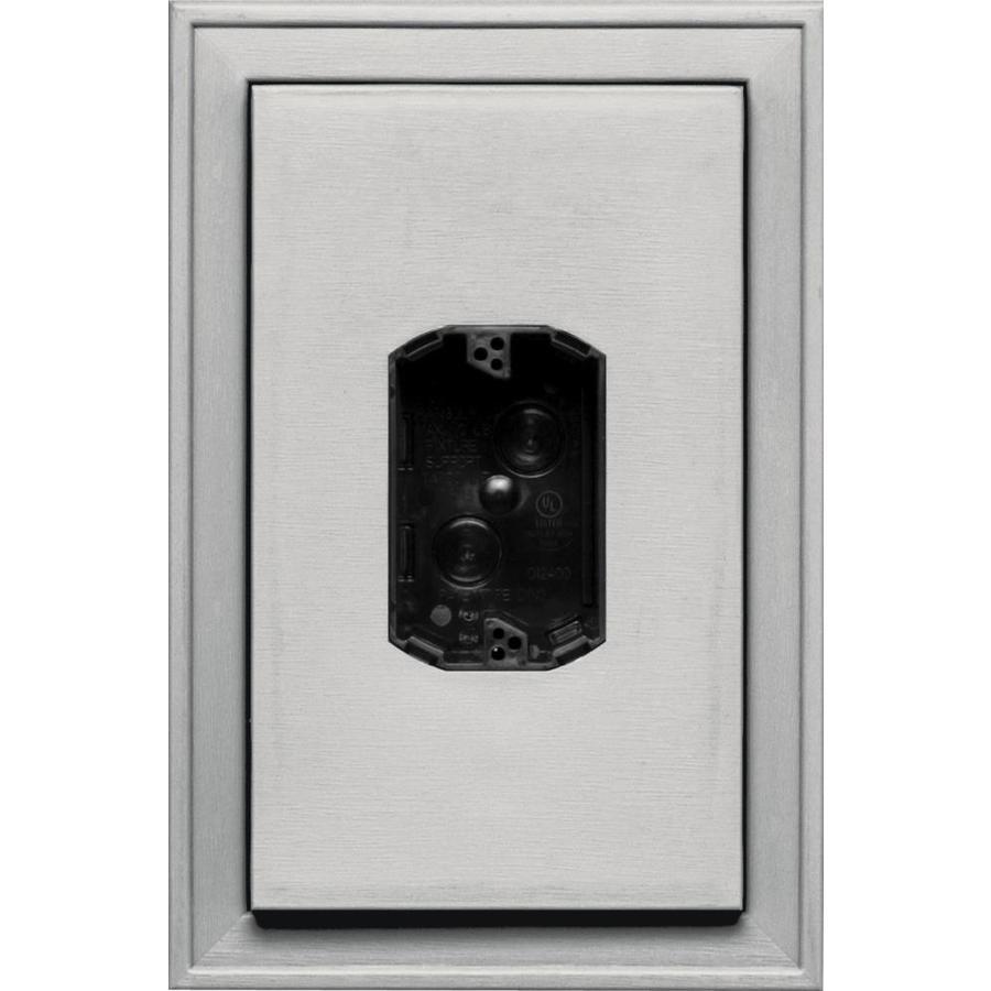 Builders Edge 8.125-in x 12-in Paintable Vinyl Electrical Mounting Block