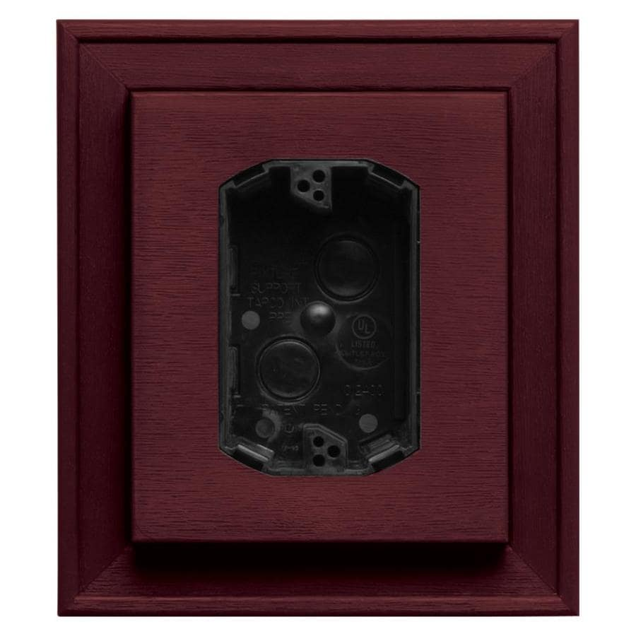 Builders Edge 7-in x 8-in Wineberry Vinyl Electrical Mounting Block