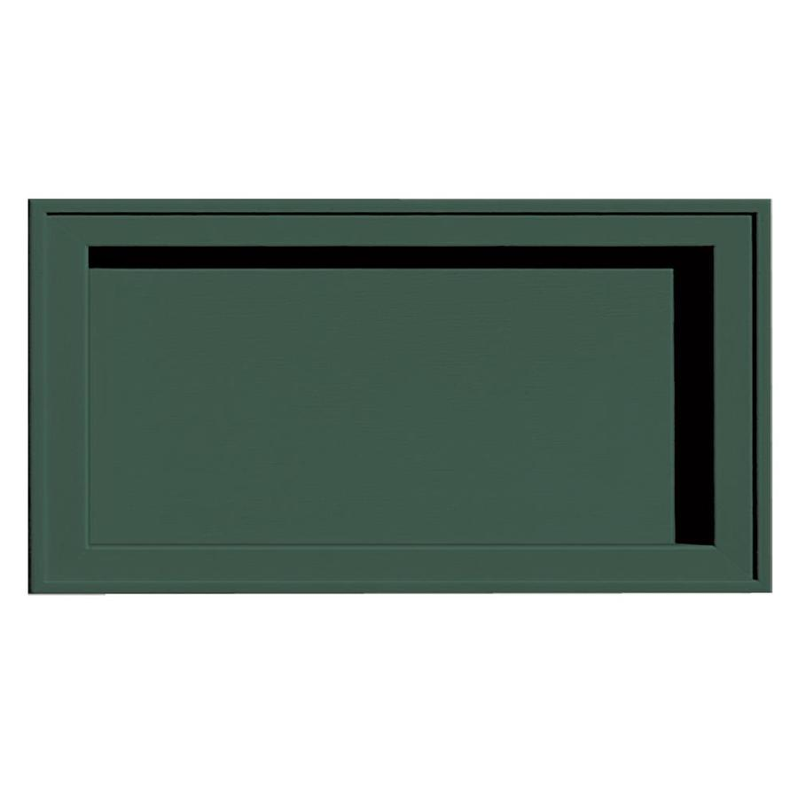 Builders Edge 7.5-in x 14.25-in Forest Green Vinyl Universal Mounting Block