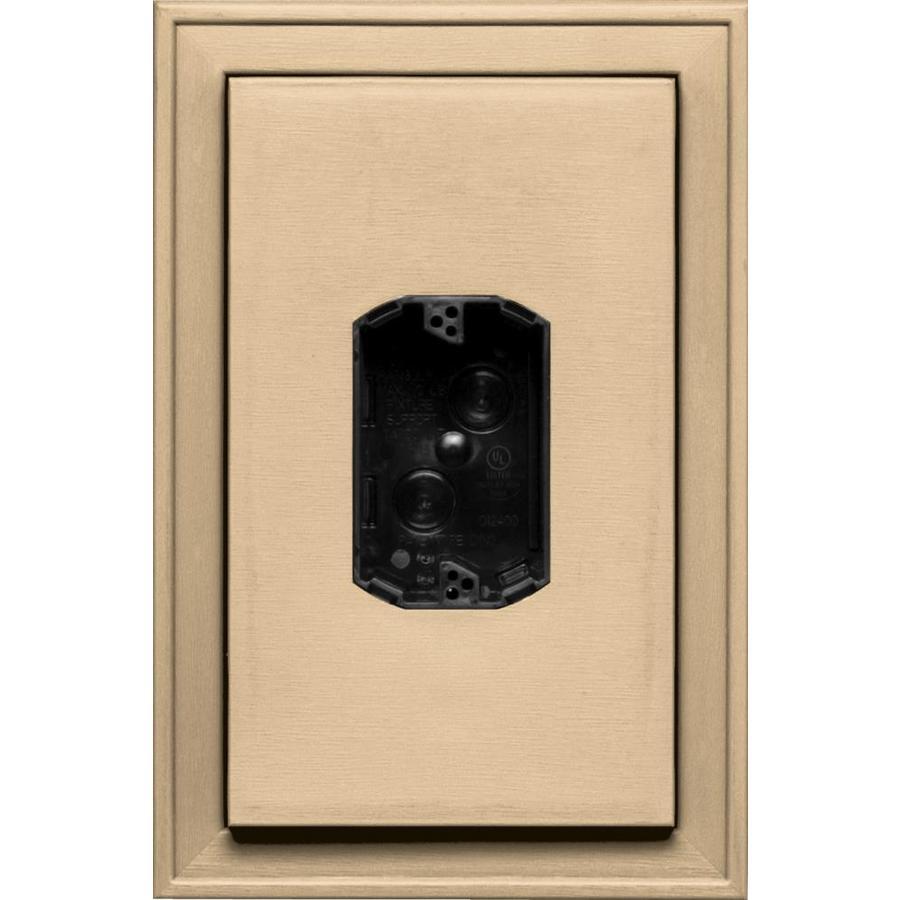 Builders Edge 8.125-in x 12-in Sandstone Maple Vinyl Electrical Mounting Block