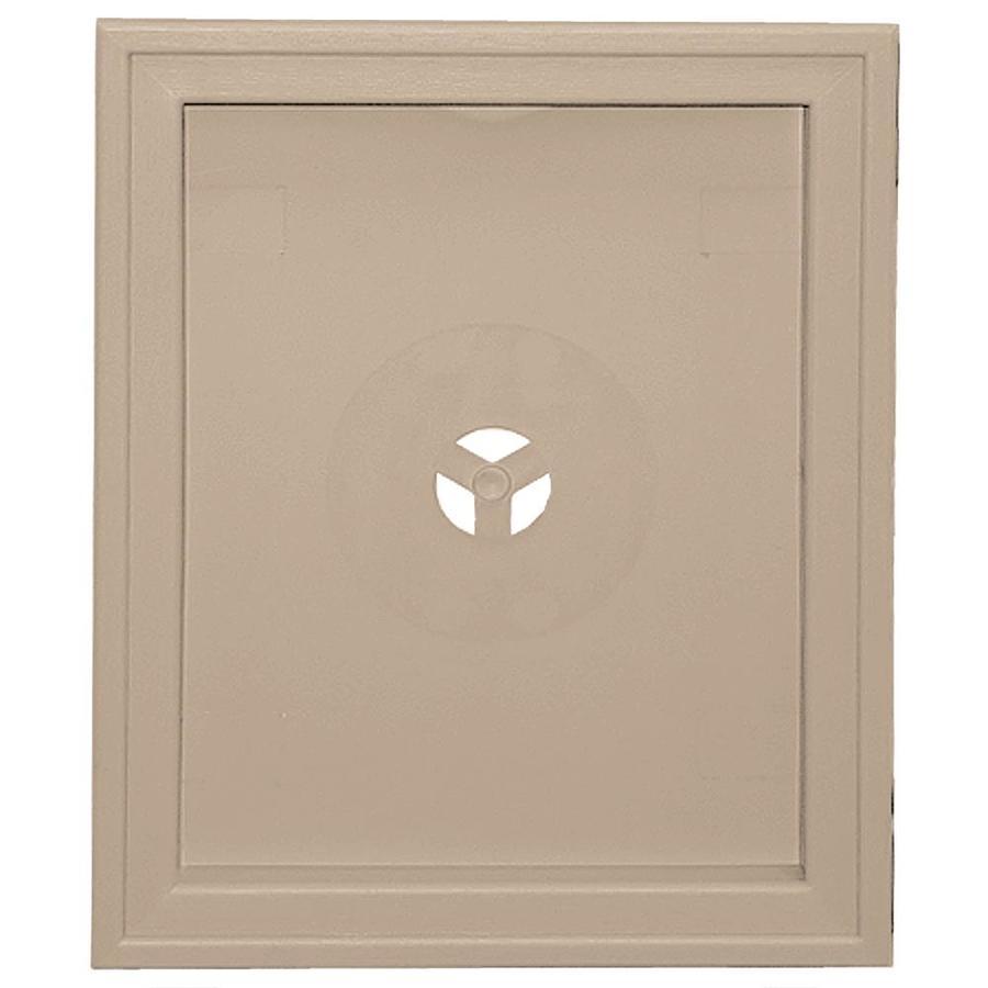 Builders Edge 6.75-in x 8.75-in Wicker Vinyl Universal Mounting Block