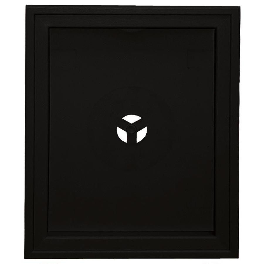 Builders Edge 6.75-in x 8.75-in Black Vinyl Universal Mounting Block