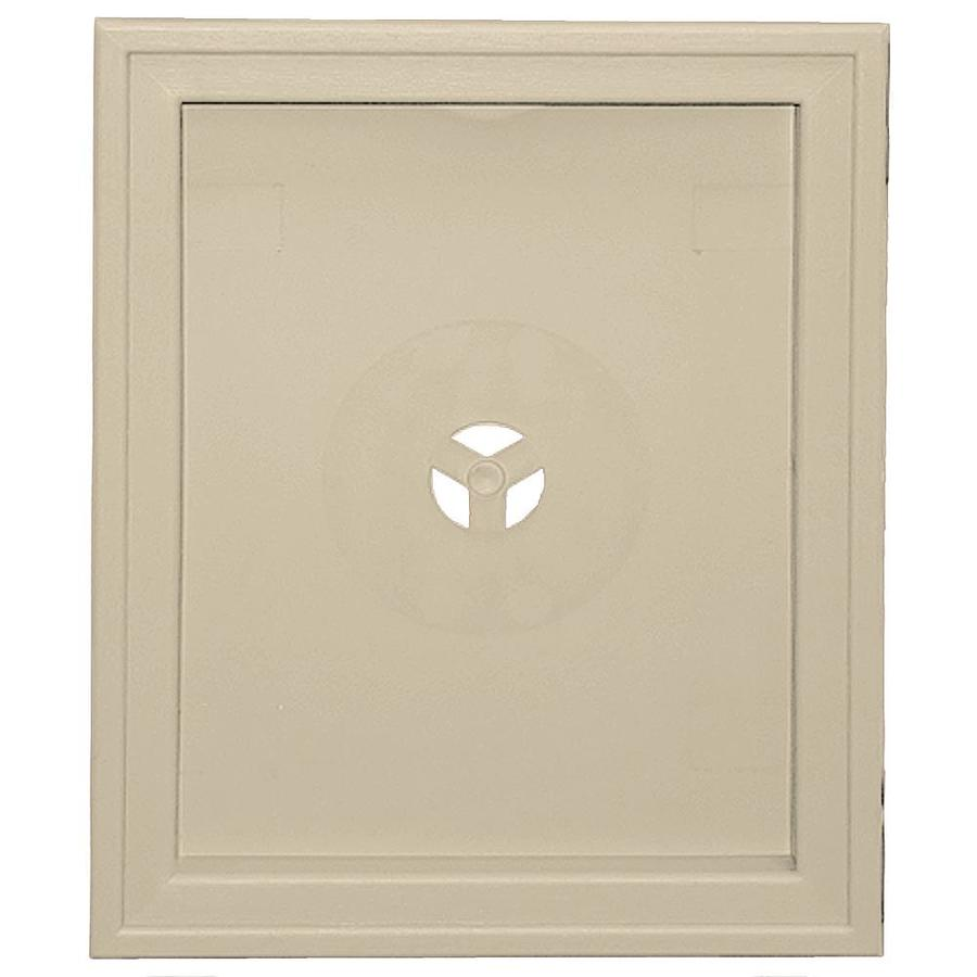 Builders Edge 6.75-in x 8.75-in Sandalwood Vinyl Universal Mounting Block