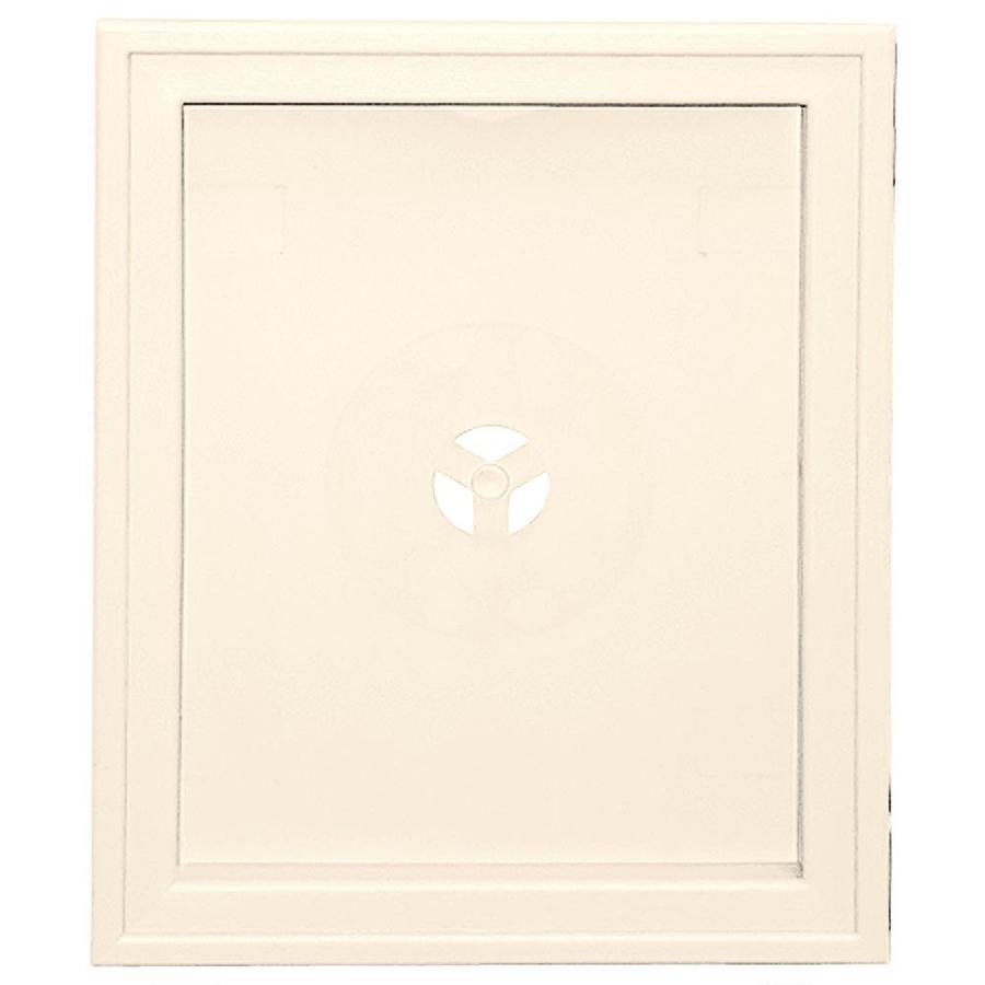 Builders Edge 6.75-in x 8.75-in Sandstone Beige Vinyl Universal Mounting Block