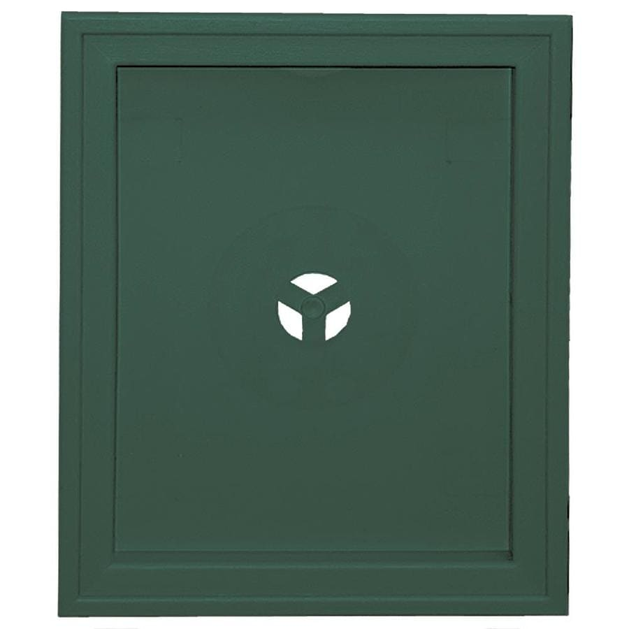 Builders Edge 6.75-in x 8.75-in Forest Green Vinyl Universal Mounting Block
