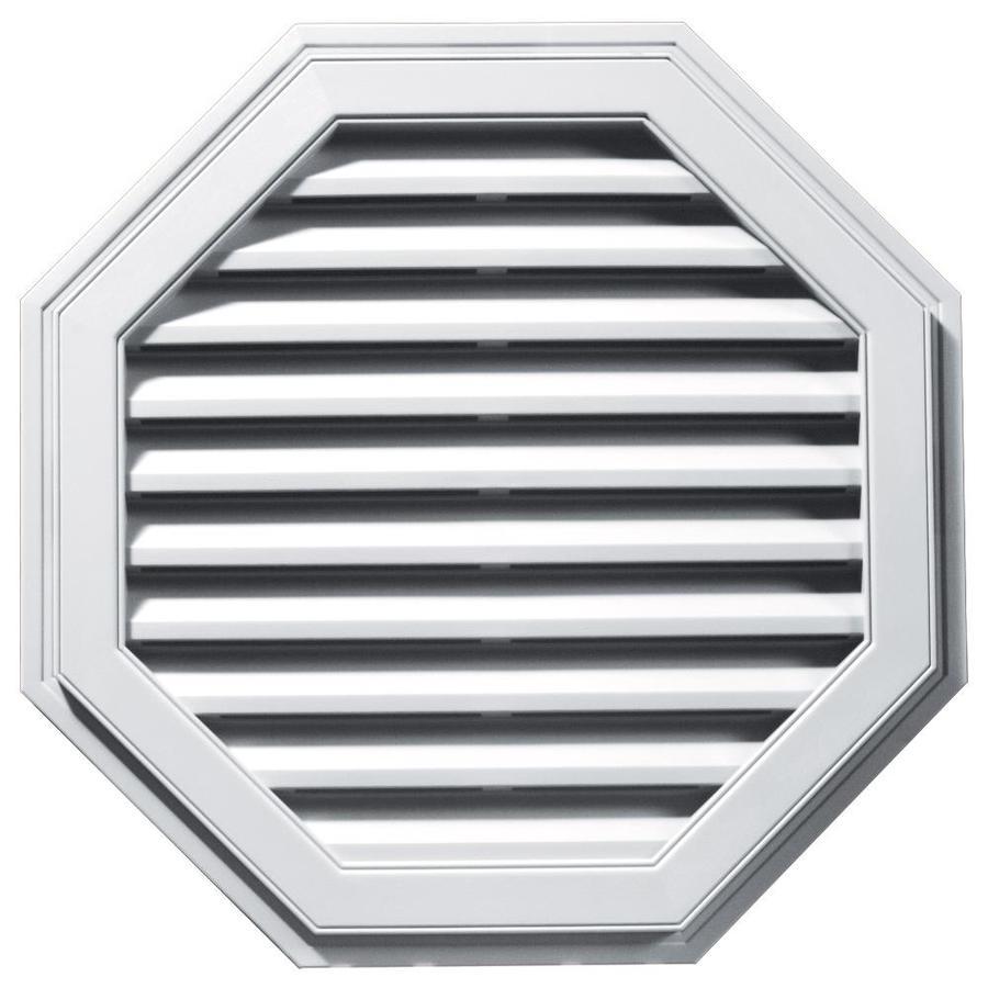 Builders Edge 11-in x 10-in White Octagon Vinyl Gable Vent