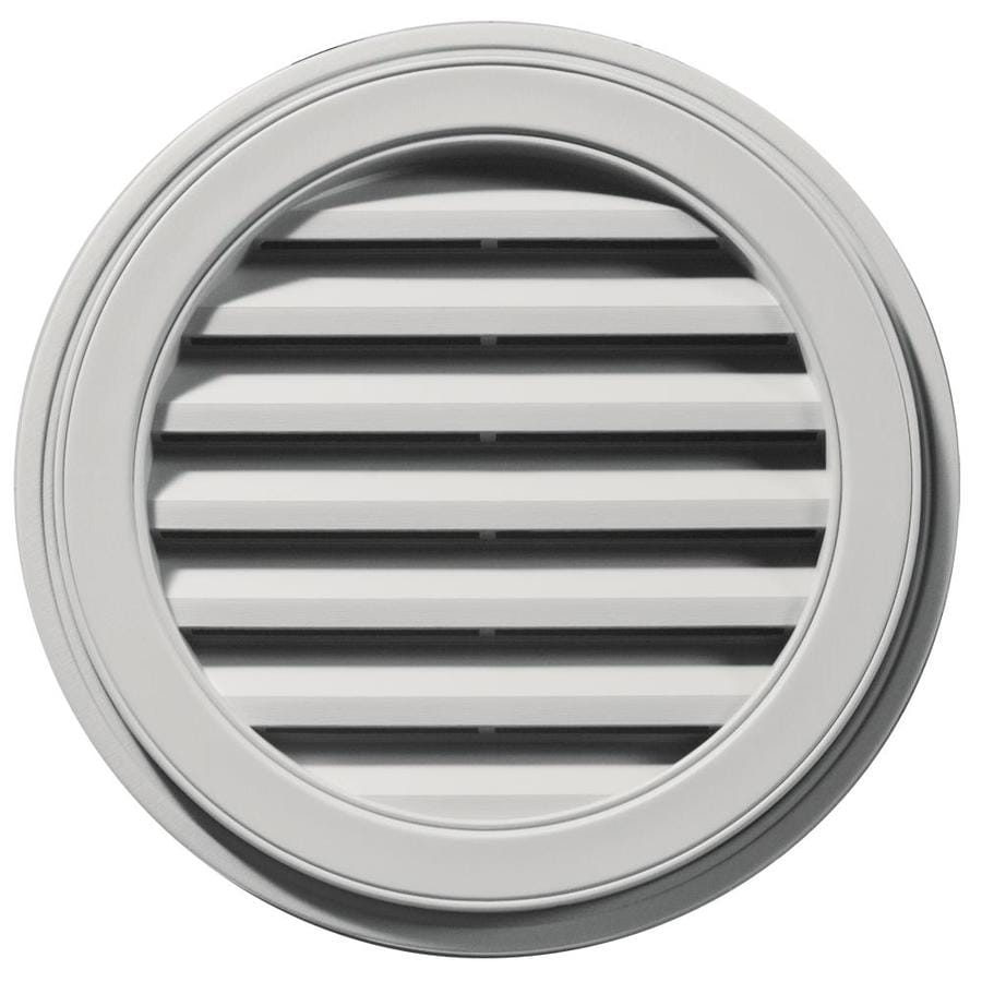 Builders Edge 8-in x 7-in Paintable Round Vinyl Gable Vent