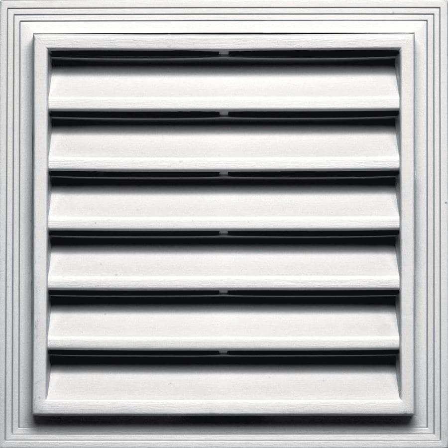 Builders Edge 7-in x 7-in White Square Vinyl Gable Vent