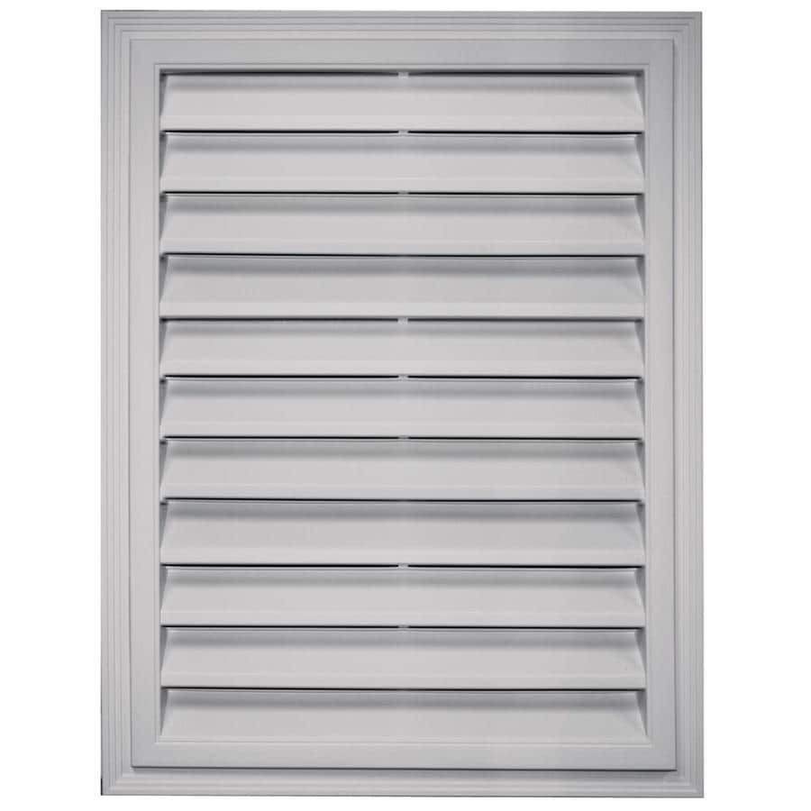 Builders Edge 12-in x 12-in Paintable Rectangle Vinyl Gable Vent