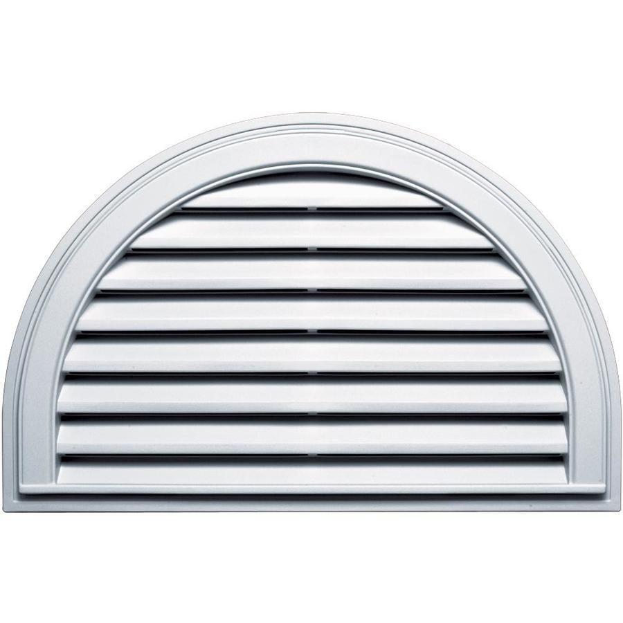 Builders Edge 10-in x 10-in White Half Round Vinyl Gable Vent