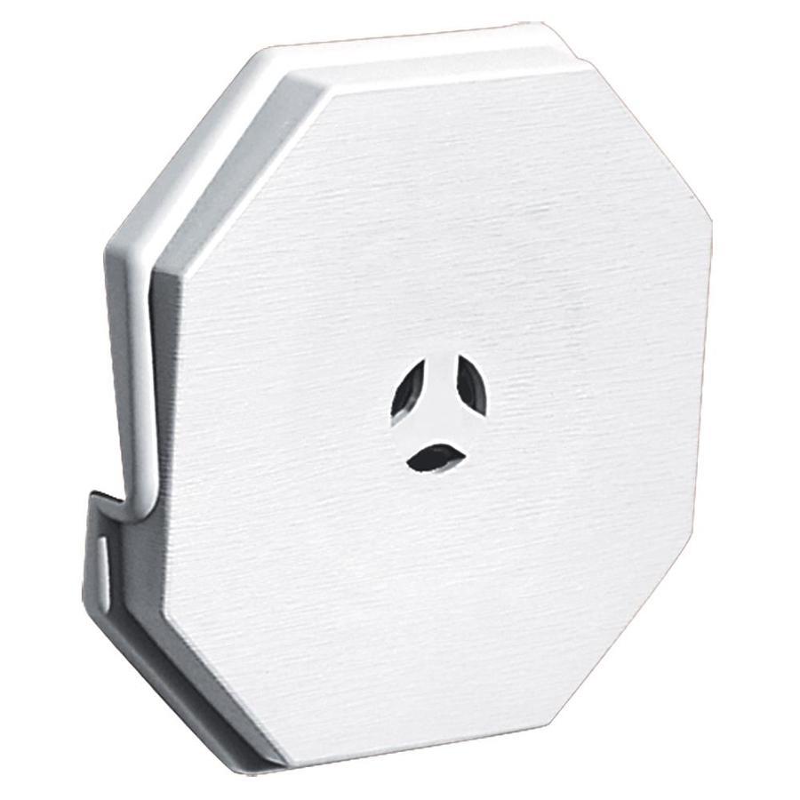Builders Edge 6.6875-in x 6.6875-in White Vinyl Universal Mounting Block