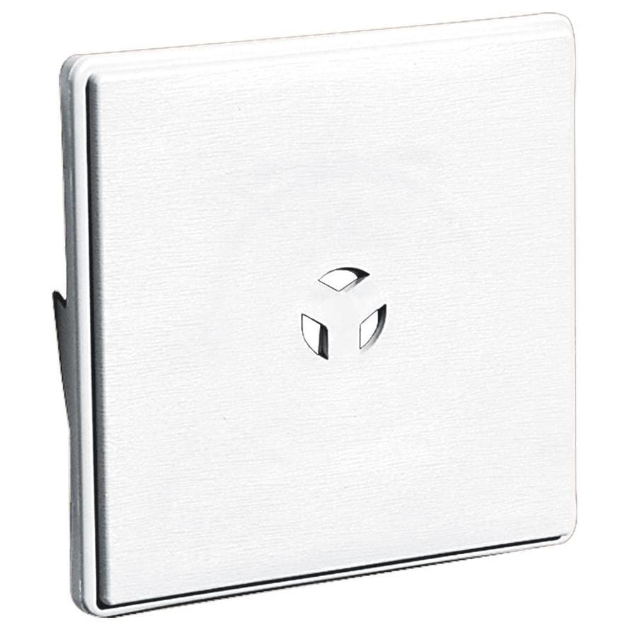 Builders Edge 6.625-in x 6.625-in White Vinyl Universal Mounting Block