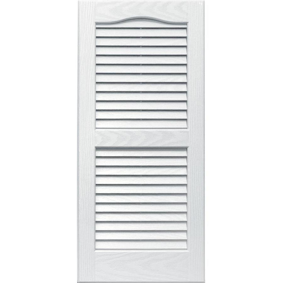 Shop Vantage 2 Pack White Louvered Vinyl Exterior Shutters Common 14 In X 3